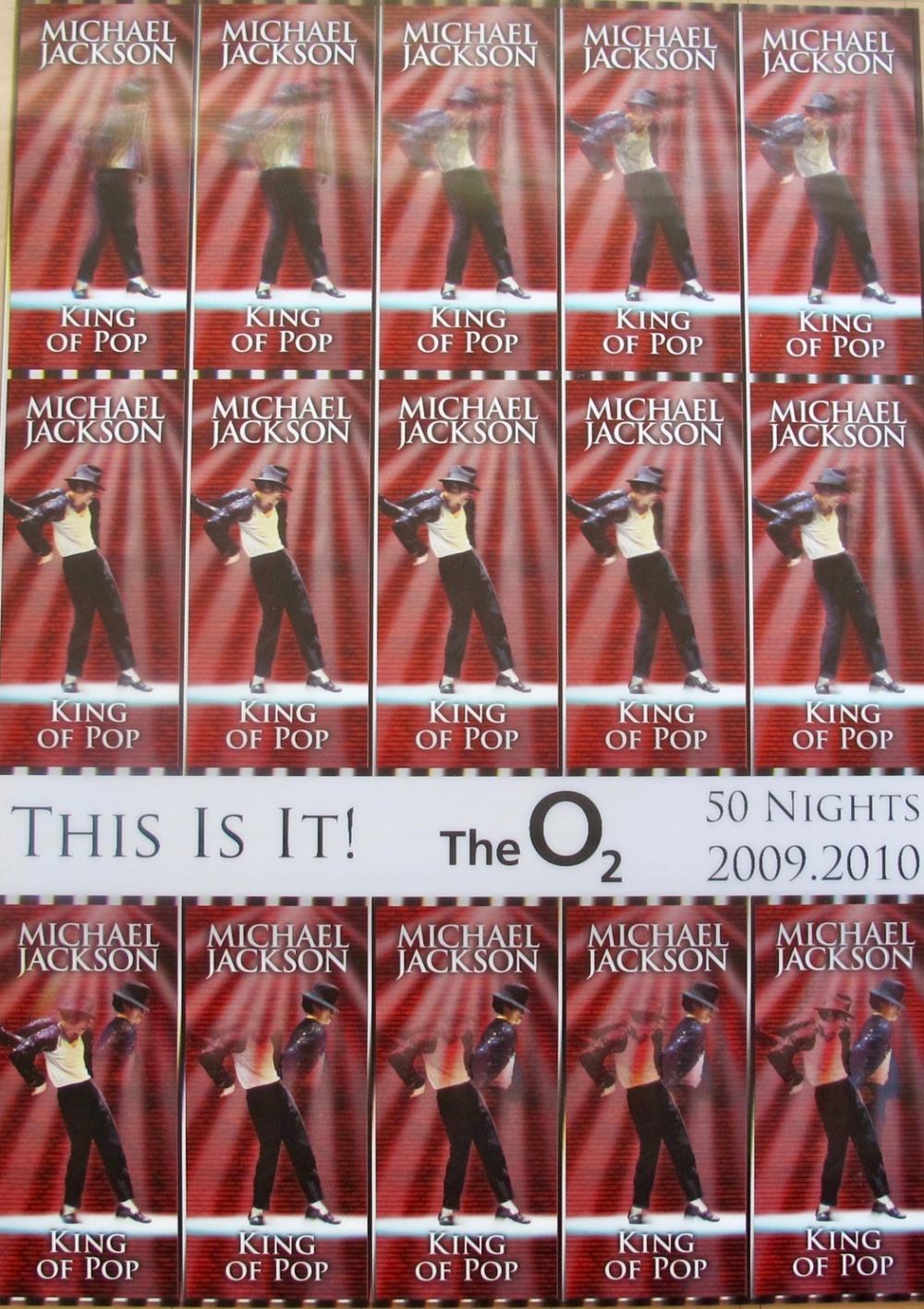 Michael Jackson This Is It Original Undistributed Hologram Aeg Concert Ticket Sheet #1