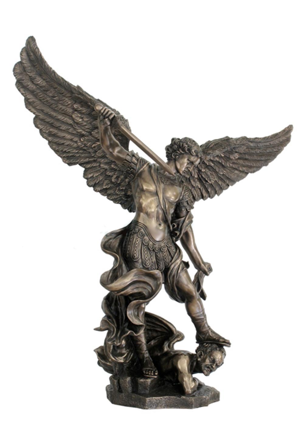 Saint Michael Standing Over Demon With Sword