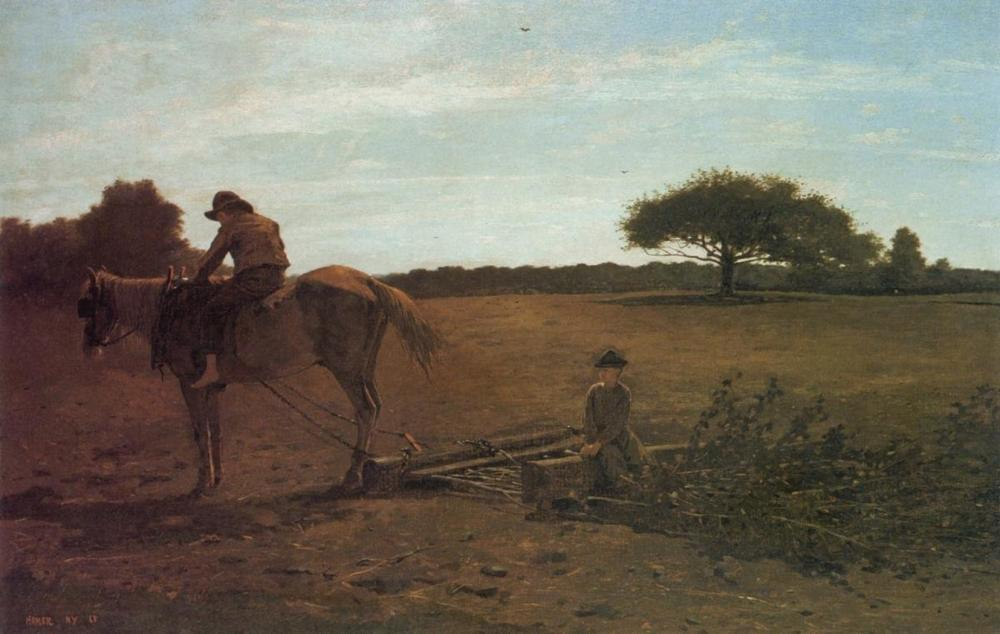 WINSLOW HOMER - THE BRUSH HARROW