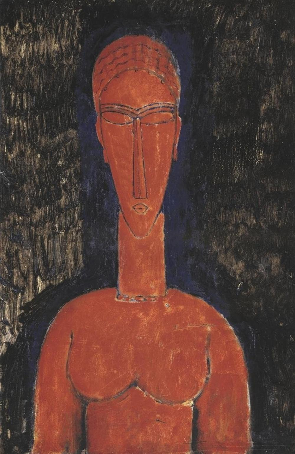 AMEDEO MODIGLIANI - RED BUST