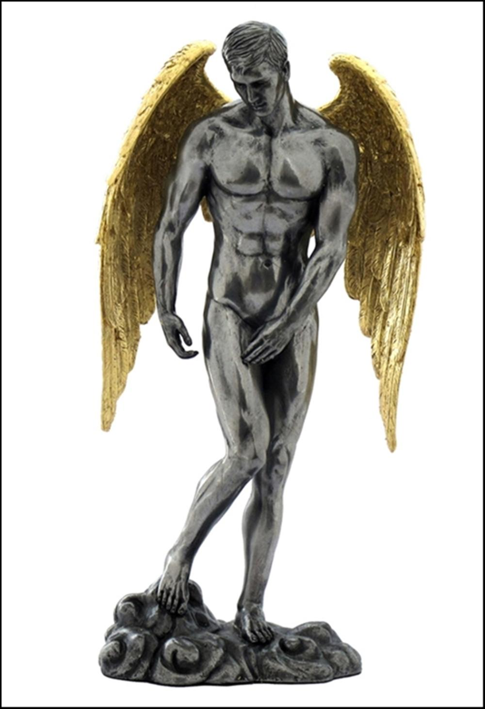 WINGED NUDE MALE STANDING