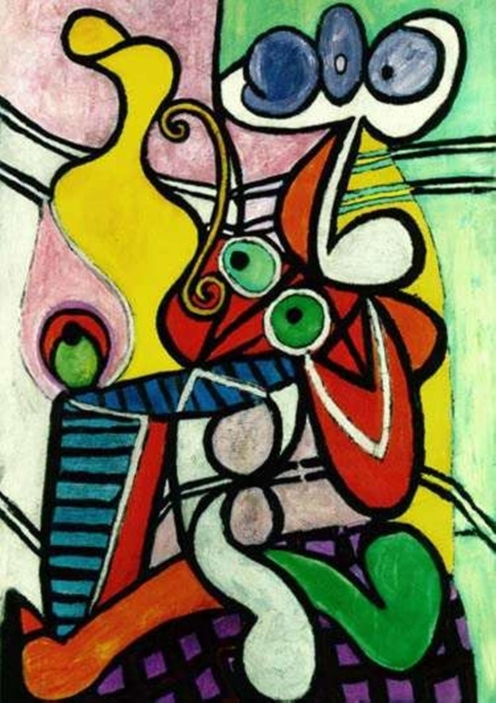 Pablo  Picasso Still Life On A Pedastal Table