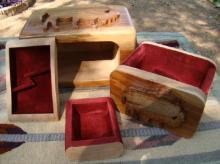 Lg Heavy Quaking Aspen 4 Compartment Grazing Buffalo Wooden Jewelry Box