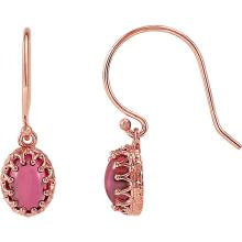 14K Rose Pink Tourmaline Earrings