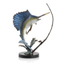Art Fighting Sailfish with Tackle