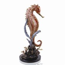 Art Large Seahorse with Coral