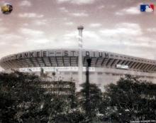 Yankee Stadium 3-d Holograph Photo Meisner Art Mlbp Baseball New York 1923