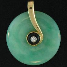 Untreated Green Jadeite Jade Pendant