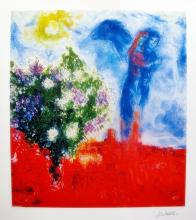 Marc Chagall Couple Above St. Paul