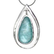 Tear Drop Roman Glass Pendant