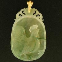 Untreated Green Water Mix Jadeite Jade Pendant