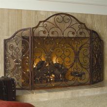 Art Provincial Triple Panel Fireplace Screen