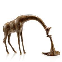 Art Loving Giraffe Parent and Child