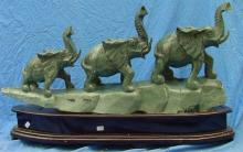 Large Jade 3 Elephants Mountain