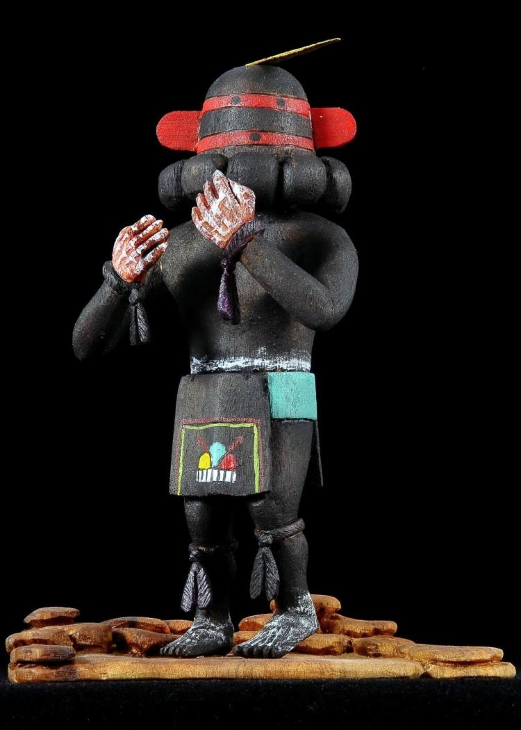 Sprinter Kachina Doll By Hopi Carver Sam Tewa