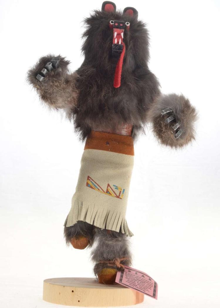Black Bear Kachina Doll Golf Trophy Collection