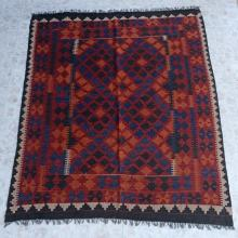 Southwest Pattern Wool Rug Large Size Over 6 Feet by 5 Feet