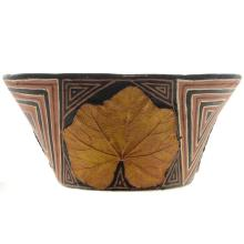Polychrome Leaf Pottery Bowl 2005 By Bill Freeman