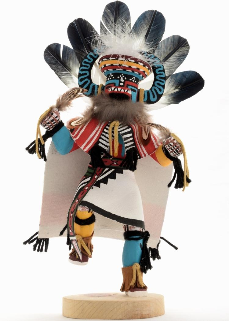 War Dancer Kachina Doll Navajo Hand Carved And Painted