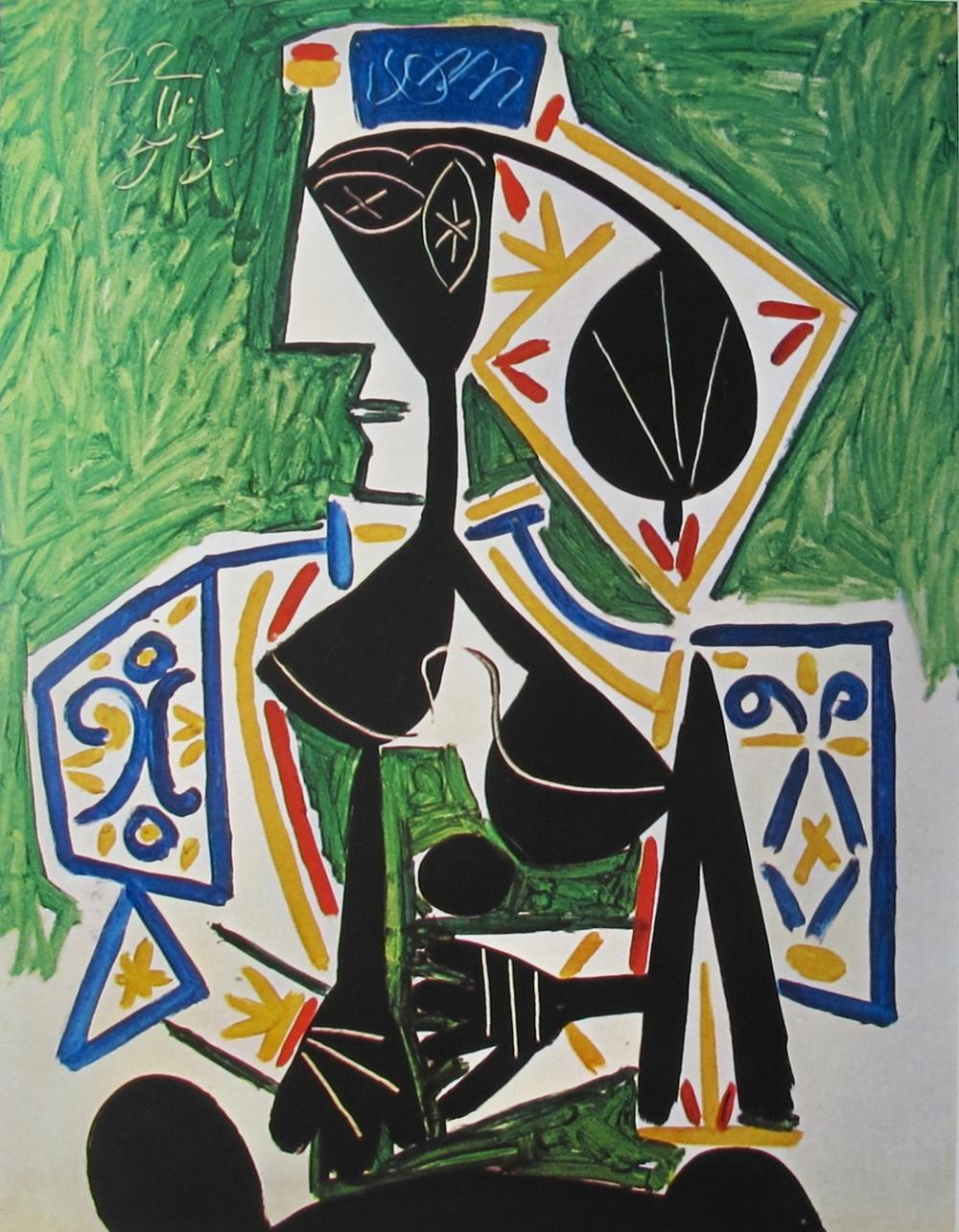 Pablo Picasso WOMAN IN GREEN Estate Signed Limited Edition (small size)