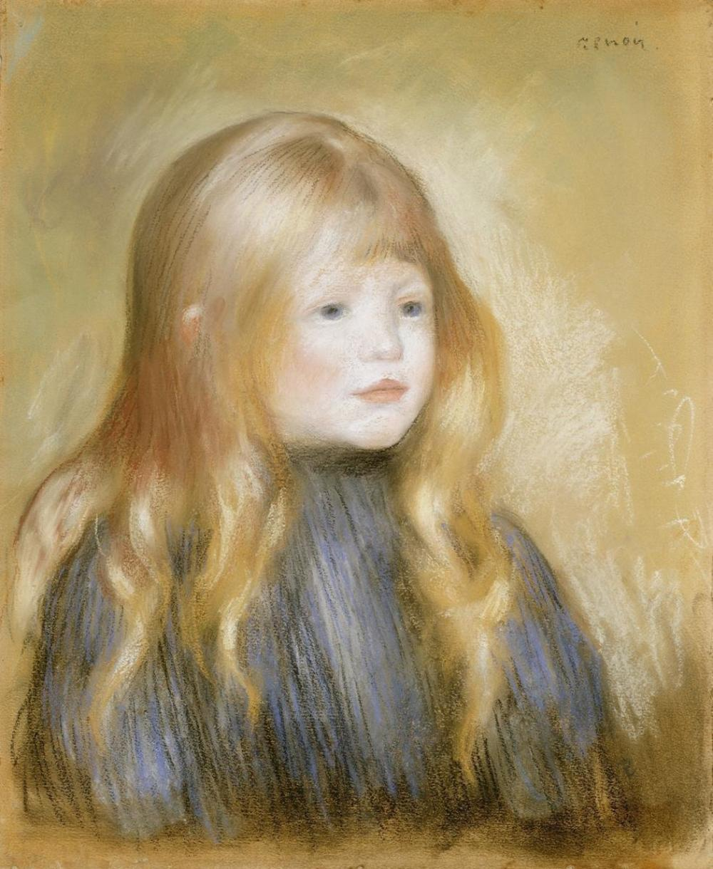 PIERRE-AUGUSTE RENOIR - THE HEAD OF A CHILD