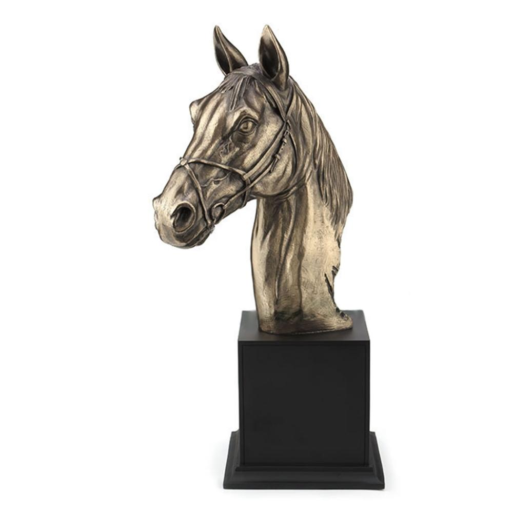 Horse Bust with Halter on Plinth