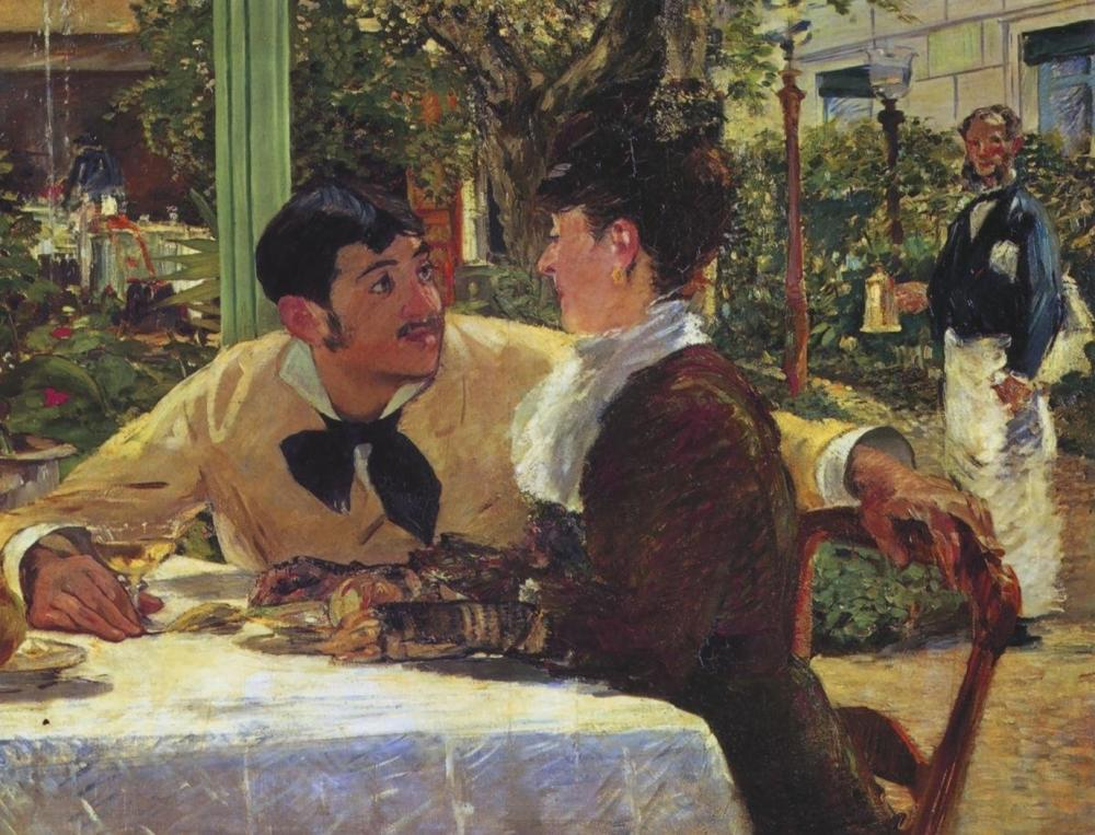 EDOUARD MANET - COUPLE AT PERE LATHUILLE