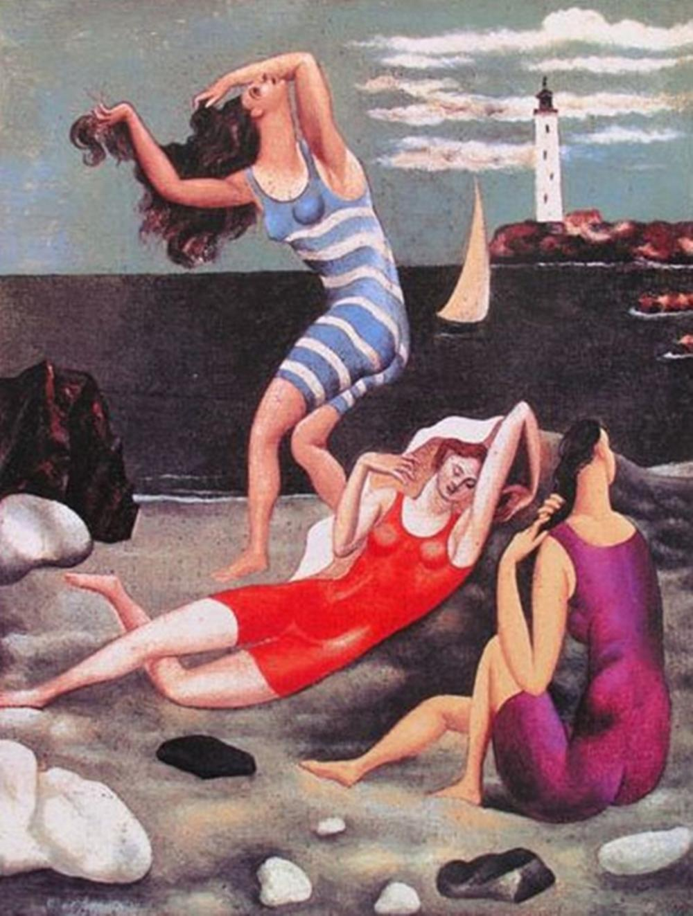 Pablo  Picasso The Bathers