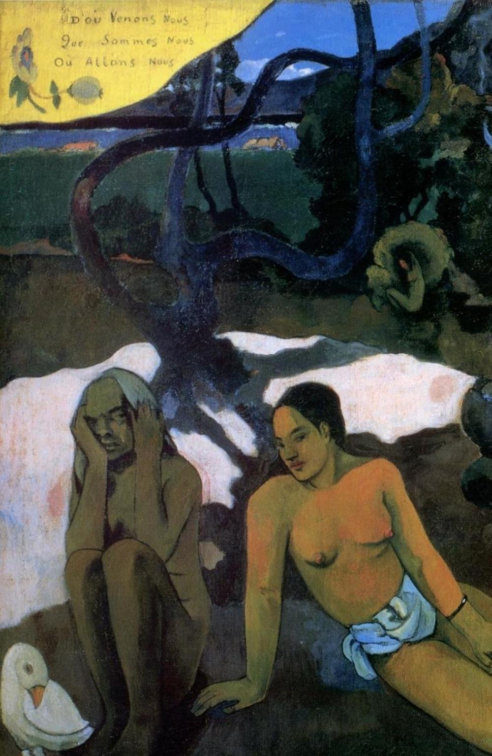 PAUL GAUGUIN - WHERE DO WE COME FROM DETAIL 3