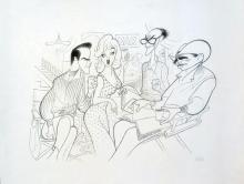 Al Hirschfeld  The Misfits On The Set