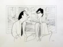 Al Hirschfeld  Law & Order  Jerry Orbach & Sam Waterston