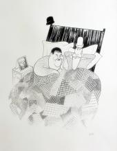 Al Hirschfeld  Laurel & Hardy Sweet Dreams