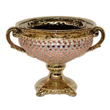 Rose Crystal & Gold Bowl