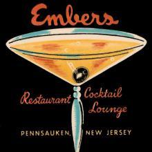 Vintage Booze Labels - Embers Restaurant Cocktail Lounge