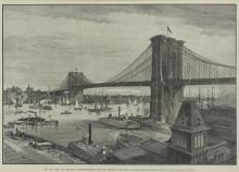 Charles Graham - The New York And Brooklyn Suspension Bridge From The Brooklyn Side, Late 1800's