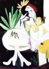 Pablo Picasso (After) #102 Green Leaves With Nude
