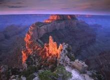Tim Fitzharris - Wotans Throne At Sunrise From Cape Royal, Grand Canyon National Park, Arizona