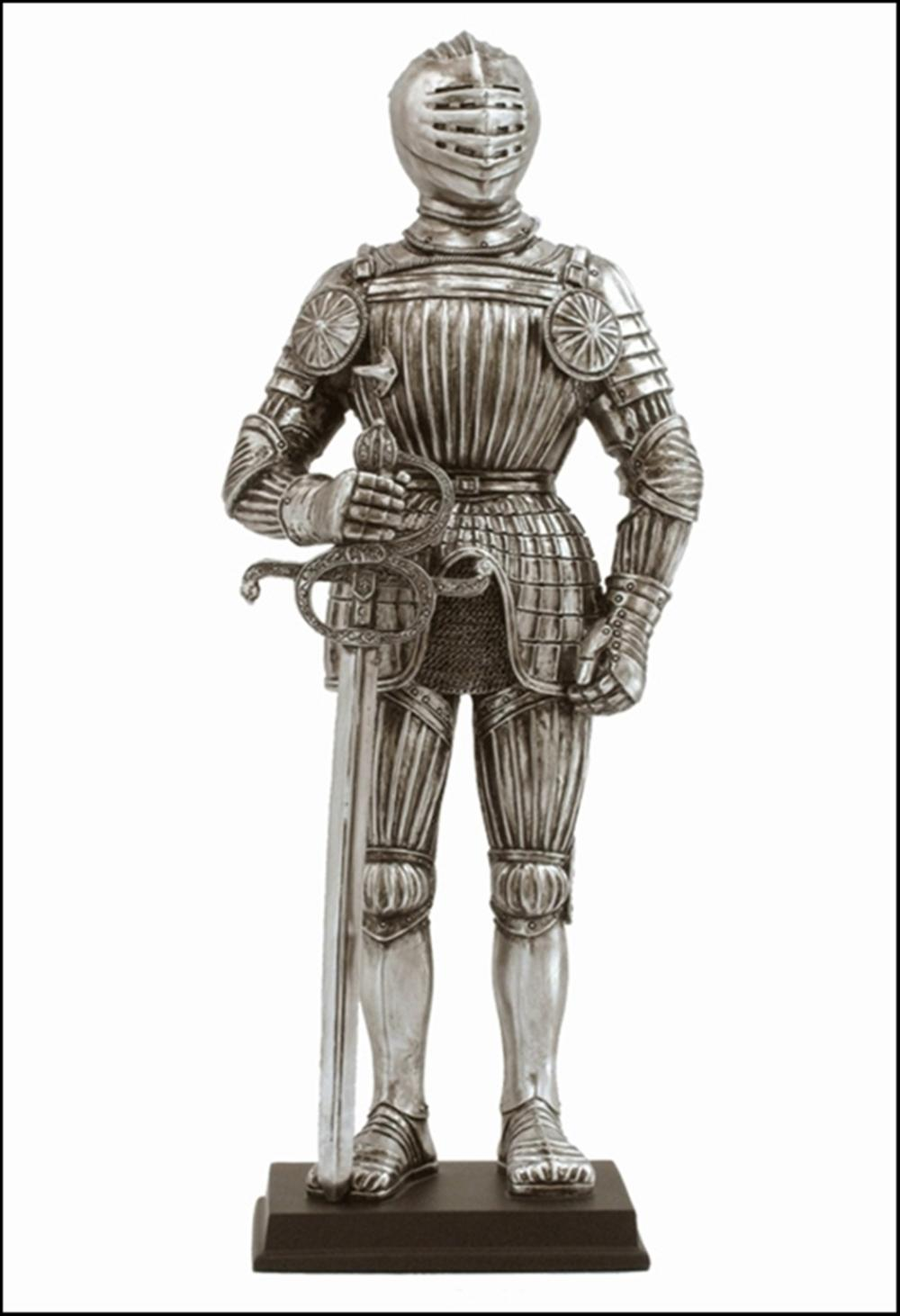 MEDIEVAL ARMOR -MAXIMILIAN STYLE ARMOR WITH SWORD IN RIGHT HAND