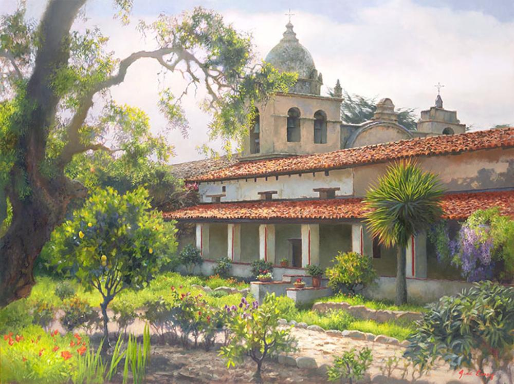 June Carey…Carmel Mission Garden