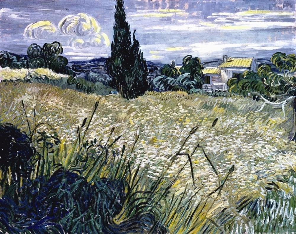 VINCENT VAN GOGH - LANDSCAPE WITH GREEN CORN