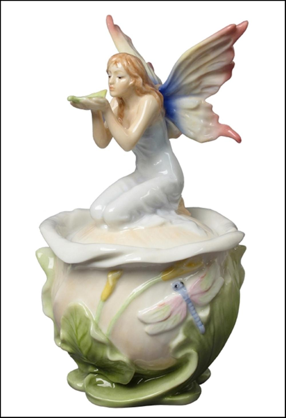 FAIRY ON CALLA LILY TRINKET BOX