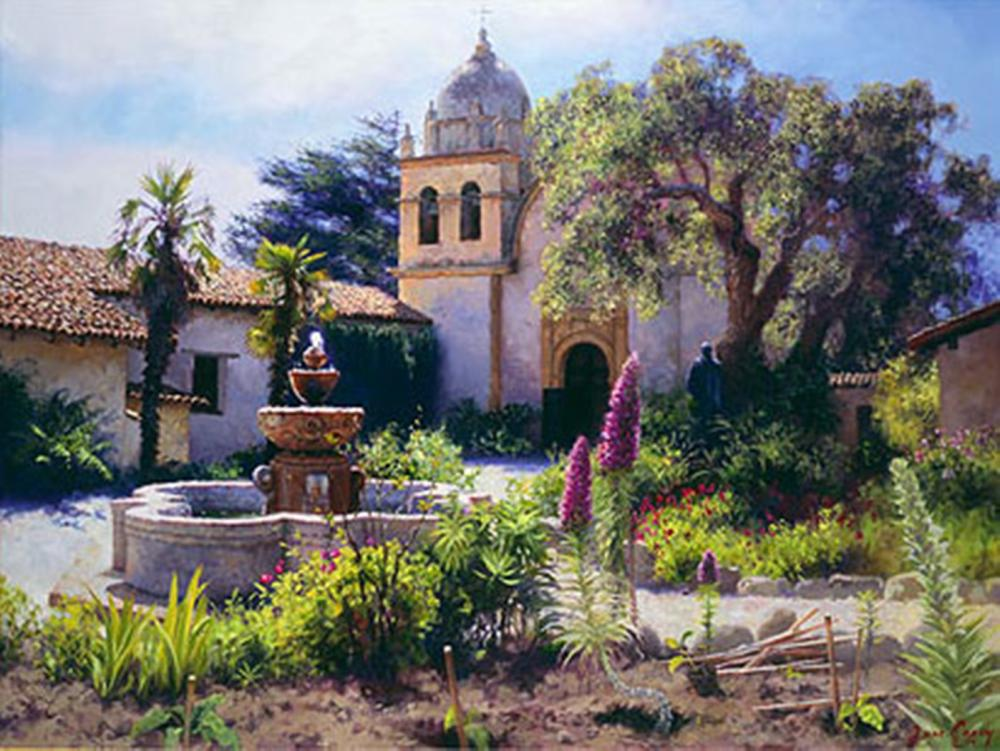 June Carey…Springtime In The Mission Garden