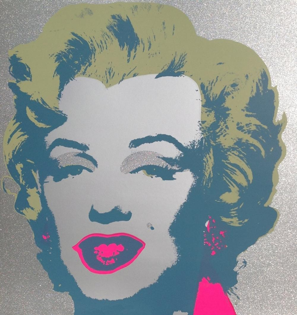 ANDY WARHOL DIAMOND DUST MARILYN LIMITED EDITION SCREENPRINT