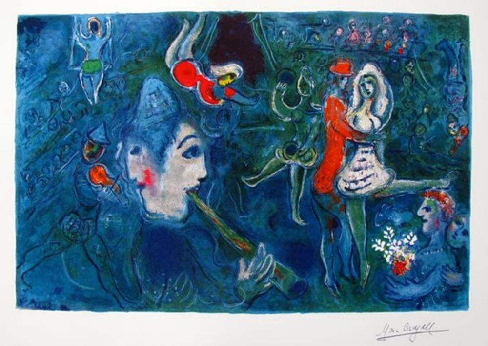 Marc Chagall Circus Clown & Dancer
