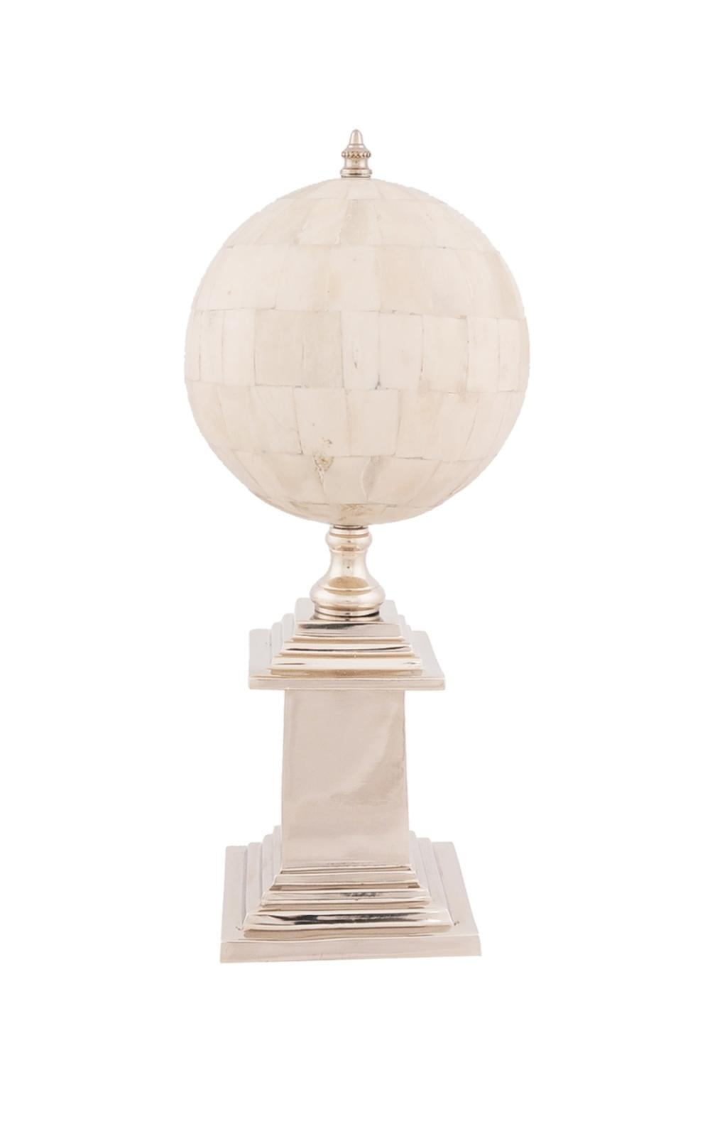 Bone Globe With Alluminum Base