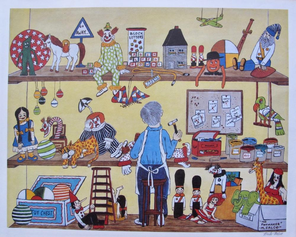 MIKE FALCO The Toymaker Hand Signed Limited Edition Lithograph