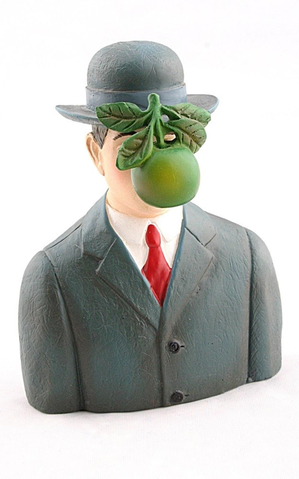 Pocket Art Son of Man with Apple by Magritte Mini Statue