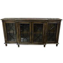 Seasoned Wood 4 Door Credenza