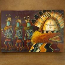 Yei Bi Chei Dancers Navajo Painting Giclée Print by JC Black