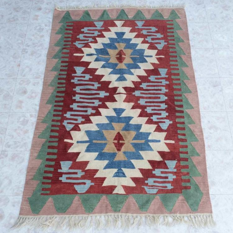 Hand Knotted Southwest Style Wool Rug Large Size Carpet 45""